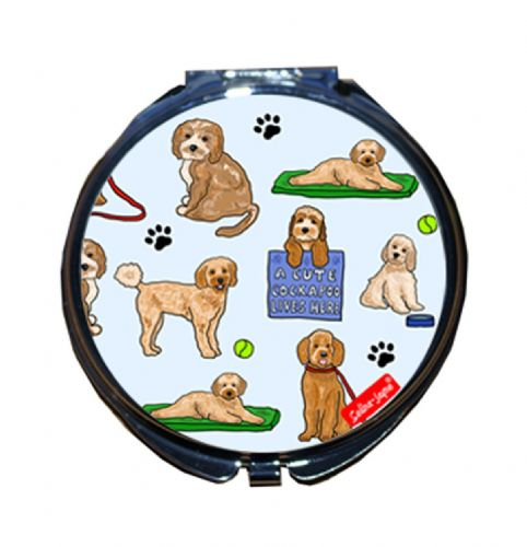 Selina-Jayne Cockapoo Dogs Limited Edition Designer Compact Mirror